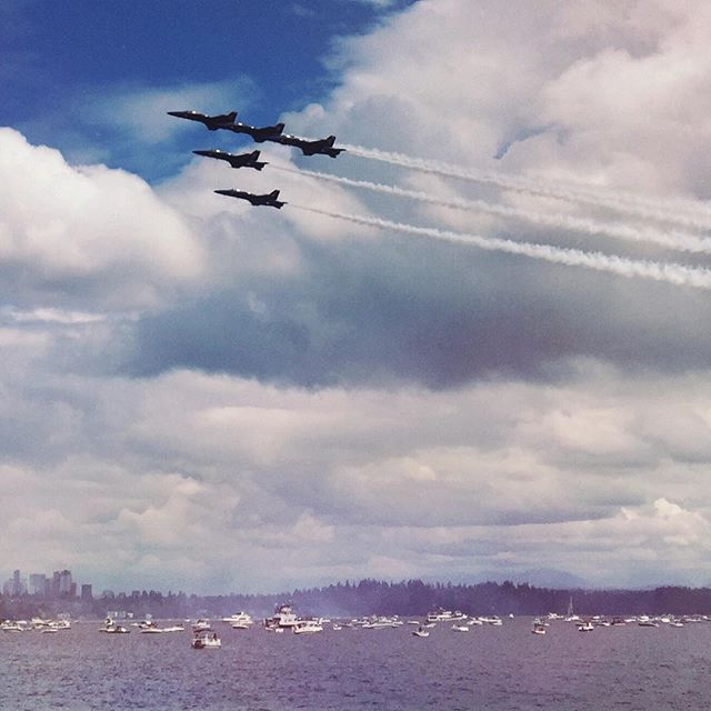 #blueAngels over #seattle #seafair like almost three years ago but posting now #muchmuchlatergram