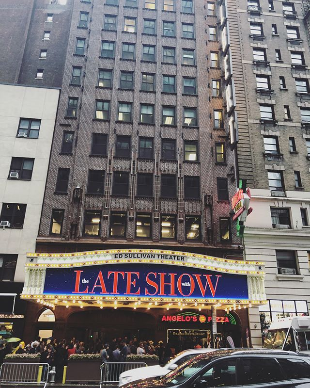 Too late to score Late Show seats—but very cool to be literally right around the corner from our hotel.