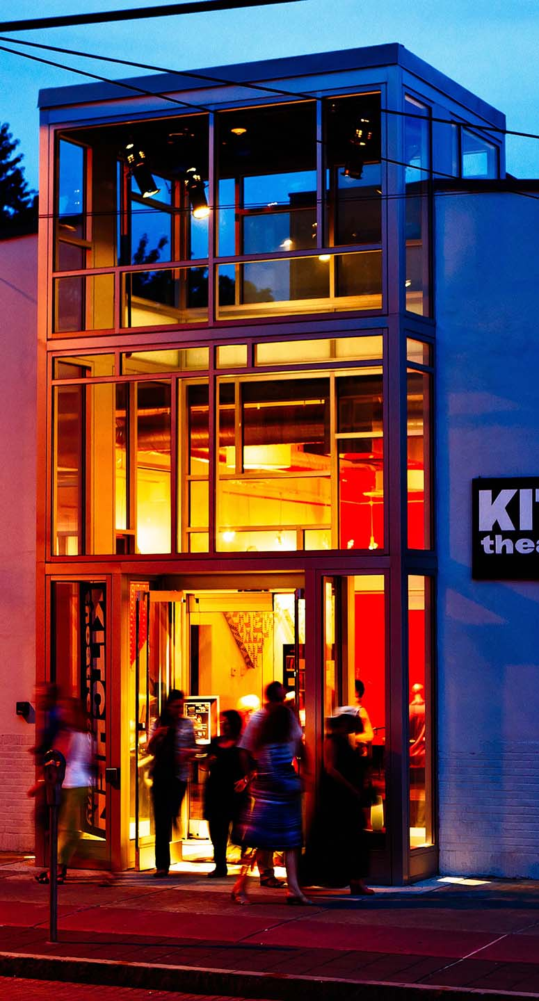 The Kitchen Theatre's LEED-certified building on West State/MLK Jr. Street in Ithaca. Photo by Dave Burbank.