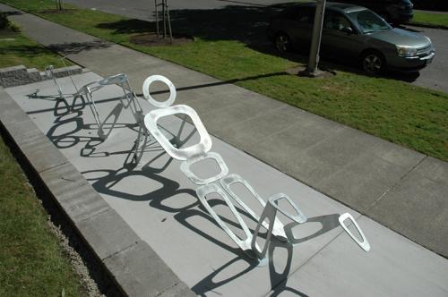 THE GRAPPLE BOYS | 2014 - Bike rack outside Seattle Design CenterPartner: Seattle Design CenterTeaching Artist: Rusty Olive