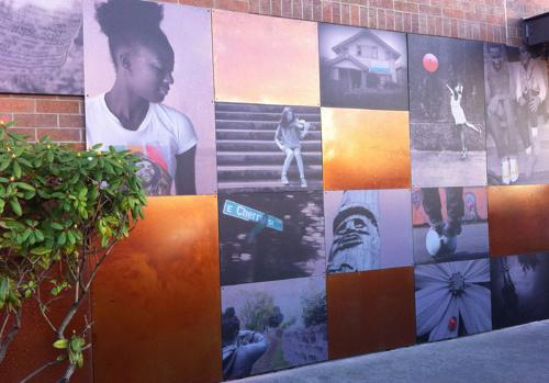 MURAL @ 23RD & JACKSON STARBUCKS | 2013 - Photographic mural on metal at Jackson Street StarbucksPartners: Starbucks + Girls FirstTeaching Artist: Bellen Drake.