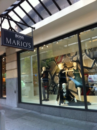 MARIO'S GRAFFITI WINDOWS | 2013 - Display panels for Mario's, Downtown SeattlePartner: Mario'sTeaching Artists: Sara Ferguson + Carlos Aguilar.
