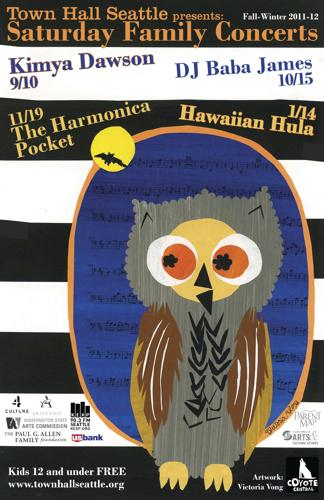 TOWN HALL CONCERT POSTERS | 2011 - Posters for Town Hall Saturday Concert SeriesPartner: Town HallTeaching Artist: Liza vonRosenstiel