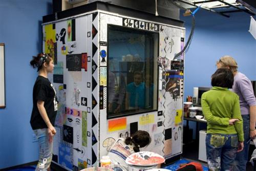 THOSE FIVE SENSES | 2008 - Artwork for a Sound Booth at the University of WashingtonPartner: University of Washington Department of Speech + HearingTeaching Artist: Tip Toland.