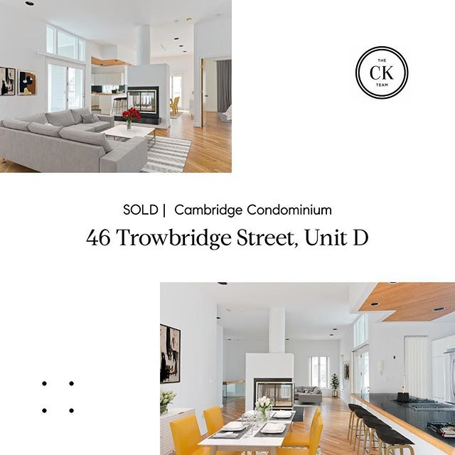 46D Trowbridge Street, Cambridge. Sold 14% above asking! Congratulations to the sellers 🥂 and to @michael.a.george for bringing the winning bid!