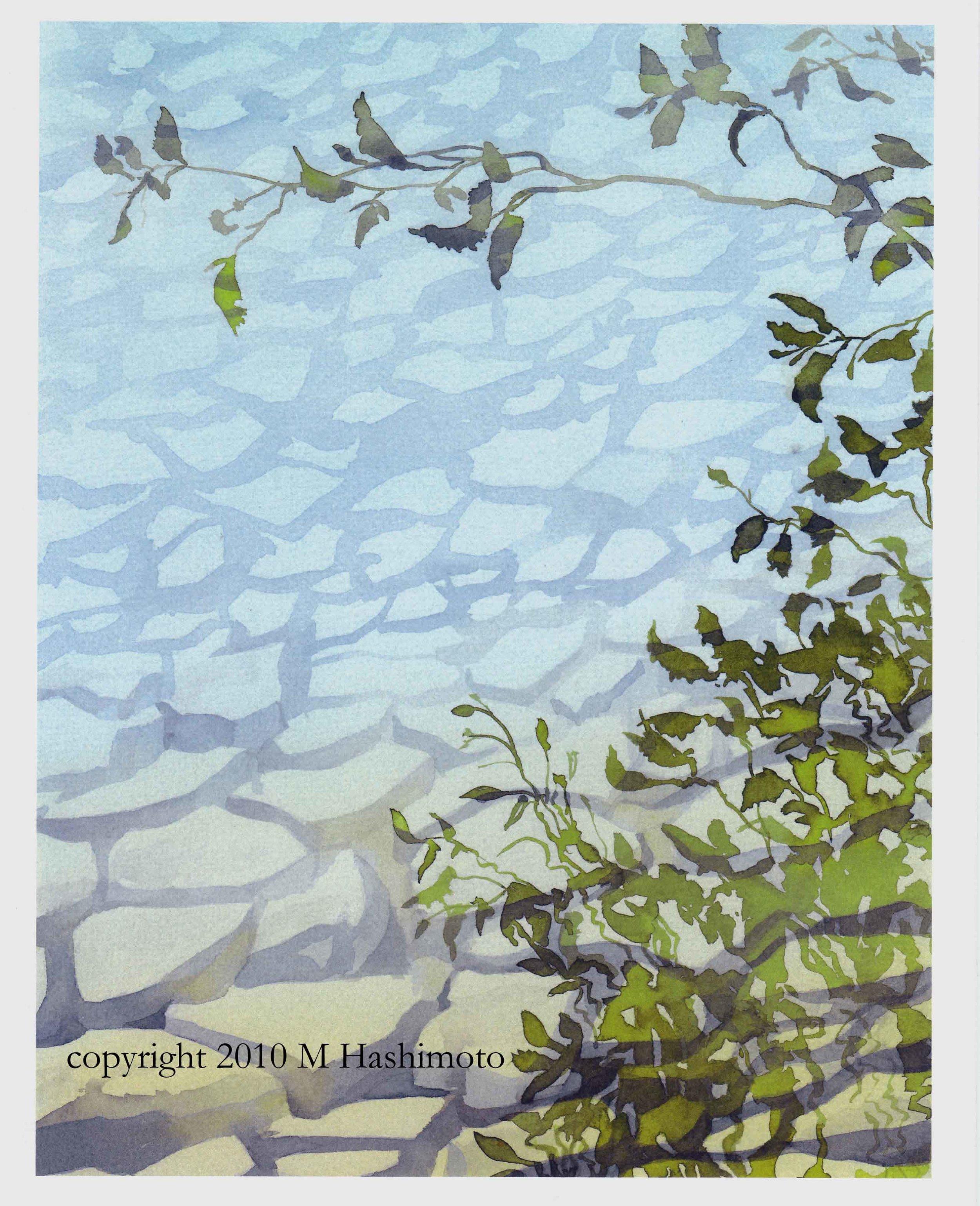 Alder Reflections in Diablo Lake - Giclee Print $75