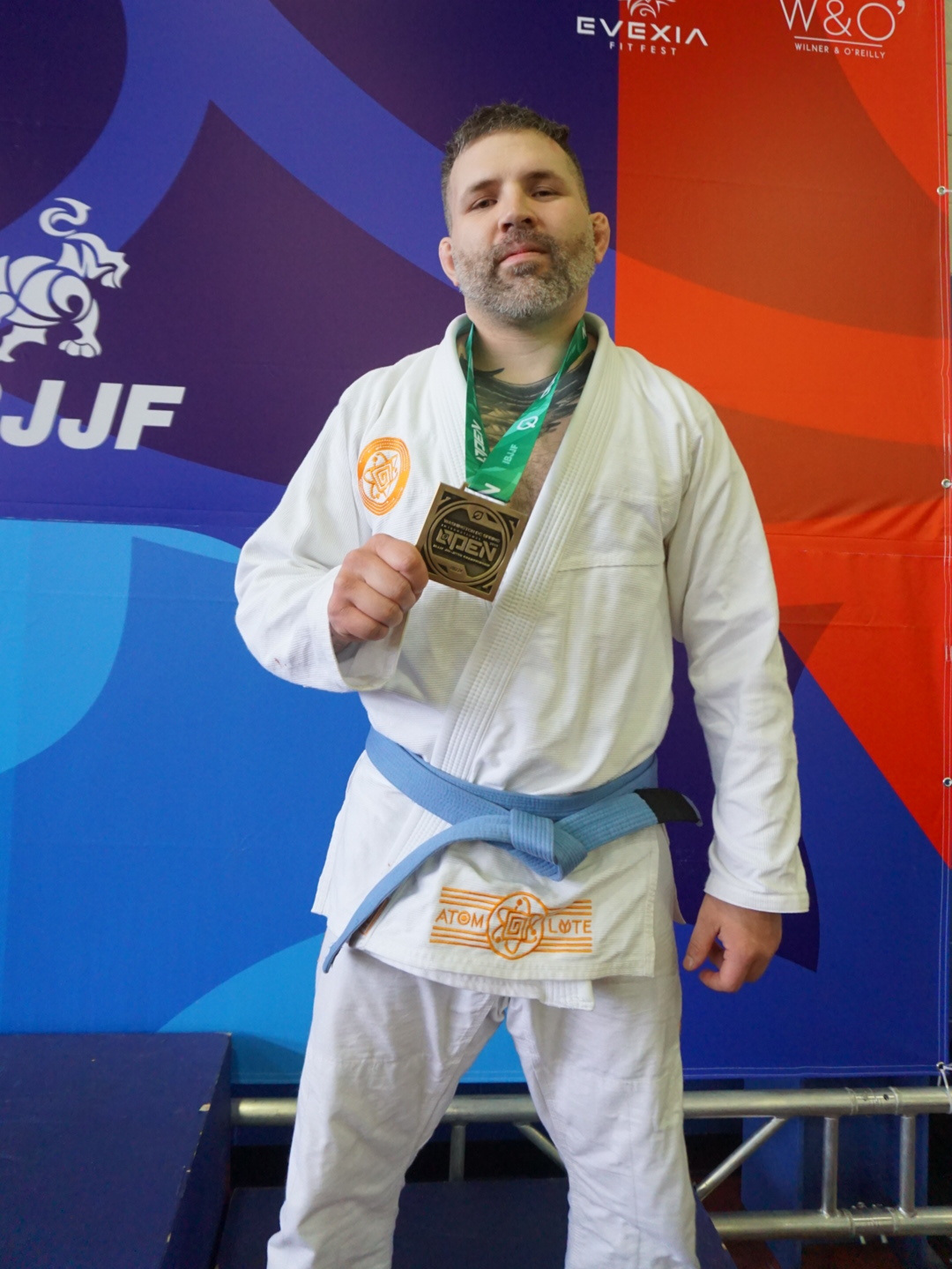 True Believer blue belt and tenacious competitor David Armbrecht earned third place in his division.
