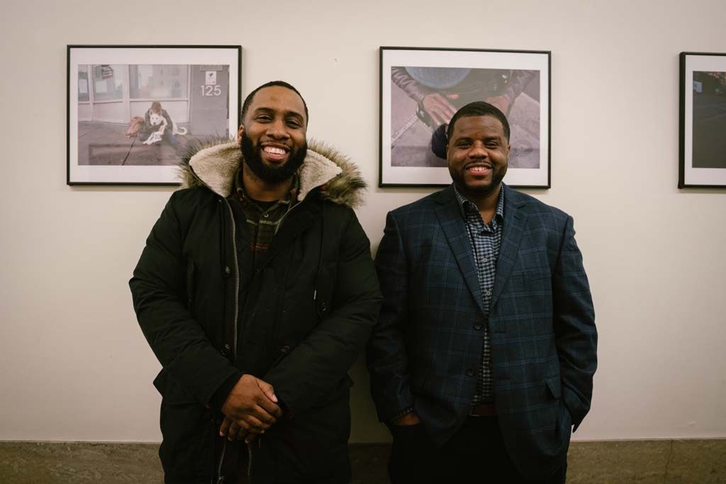 Friends, family and community members came out to support the photographers featured in the exhibition.