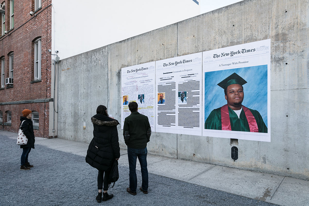 """""""A Teenager With Promise (Annotated)"""", 2017, MoMA PS1 (Photo: Charles Roussel) From the series """"Counternarratives"""""""