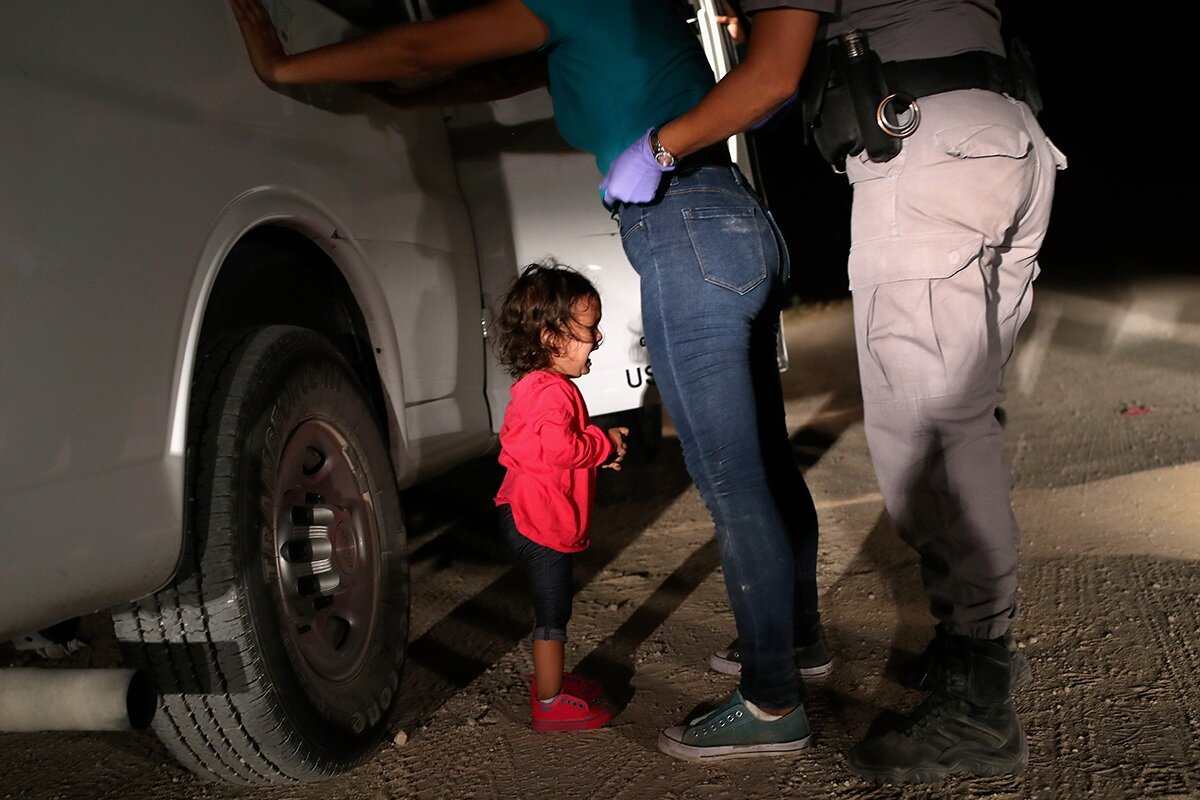 John Moore  Crying Girl on the Border June 12, 2018 McAllen, Texas Image © John Moore/Getty Images