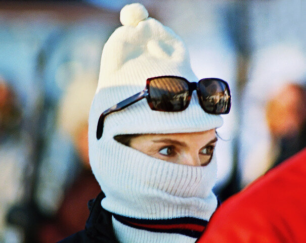 © Harry Benson  Jackie Kennedy with Ski Mask, Laurentian Mts., Canada , 1968