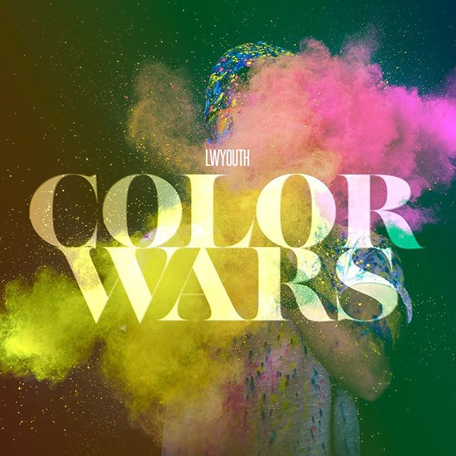 Tomorrow at 6:30pm is the big switch and we are kicking off COLOR WARS!  You're going to want to be here as we divvy up into teams that will be competing for the ultimate grand prize at the end of the summer - invite your friends and don't miss out! #lwyouth #colorwars