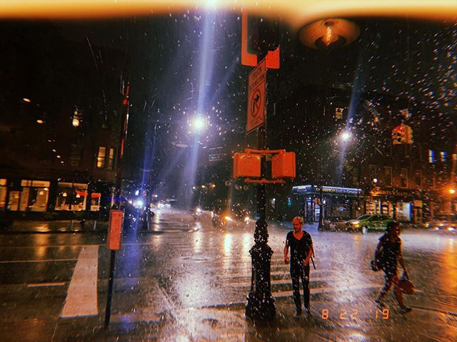 """⛈ Discovering this phenomenon New Yorkers call """"weather"""" ⛈"""