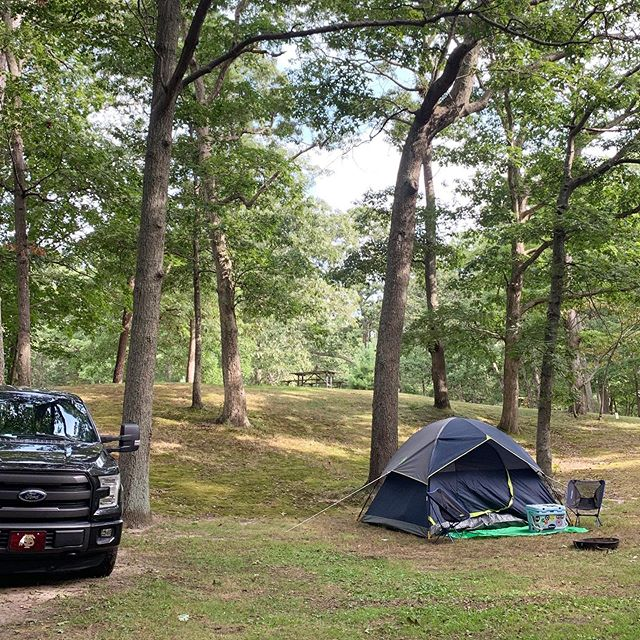 We traded in the camper for a couple of days of tent camping in Long Island this weekend. We're here after Labor Day and it feels like we have the park all to ourselves! It's so peaceful and there's a beach right in the park. - #rv #rvlife #traveltrailer #rvliving #camper #camperlife #rvtravel #travelingfamily #carpedinos #carpediem #alternativeliving #alternativelifestyle #selfemployed #workremote #remotework #workanywhere #workfromanywhere #rvlifestyle #rving #fulltimerv #fulltimervfamily #fulltimerving #fulltimetravel  #camper #campvibes #homeiswhereyouparkit #homeiswhereweparkit #gorving #happycamper