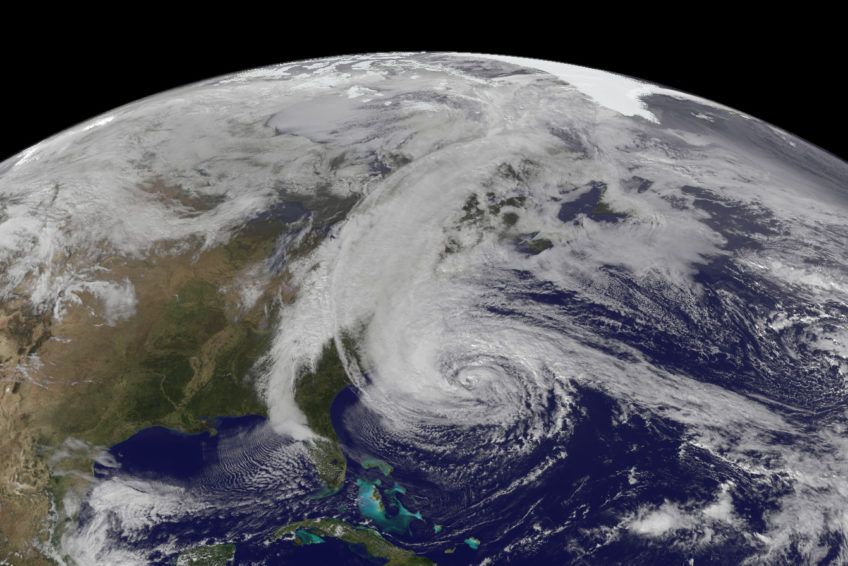 Hurricane Sandy, 2012. Image: NOAA