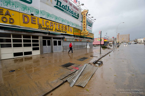 Hurricane Sandy Aftermath, Coney Island. 2012, Image: Copyright John Huntington