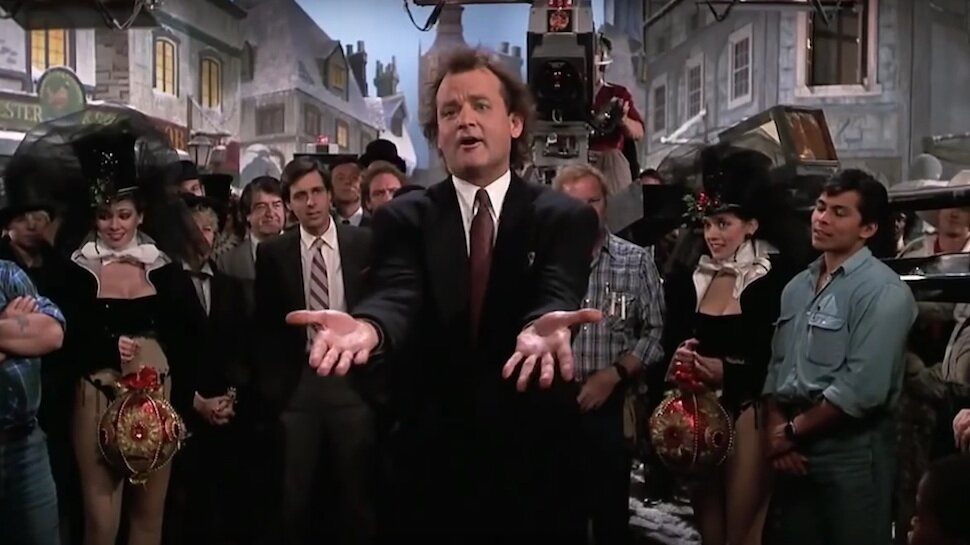 Billy Murray in 'Scrooged' (1988). Image: Paramount Pictures