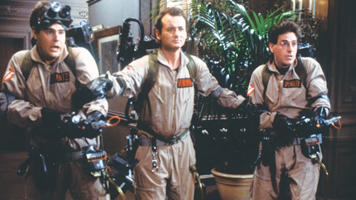 Dan Akroyd, Bill Murray, Harold Ramis. (This makes two weeks in a row with Bill Murray references). Ghostbusters (1984). Image: Columbia Pictures