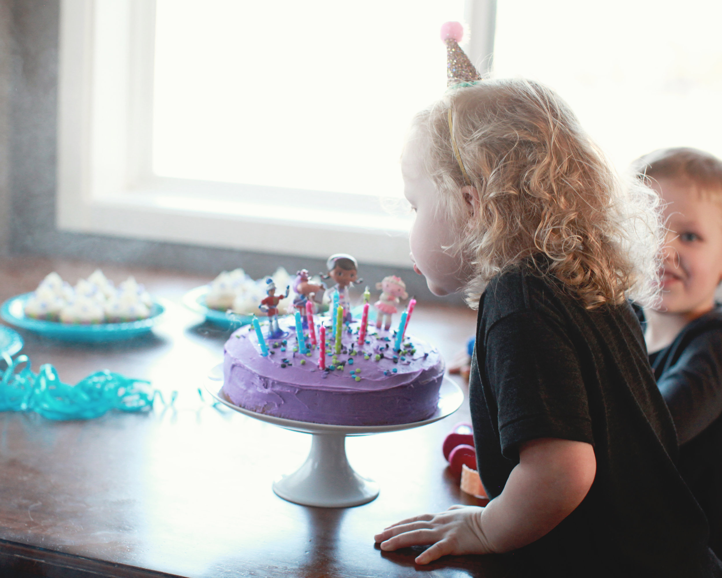Charlie was turning 3, Caleb was 4 and Miles was 18 months old. Is anyone surprised this is the only photo I got of her Doc McStuffin party? Ugh.