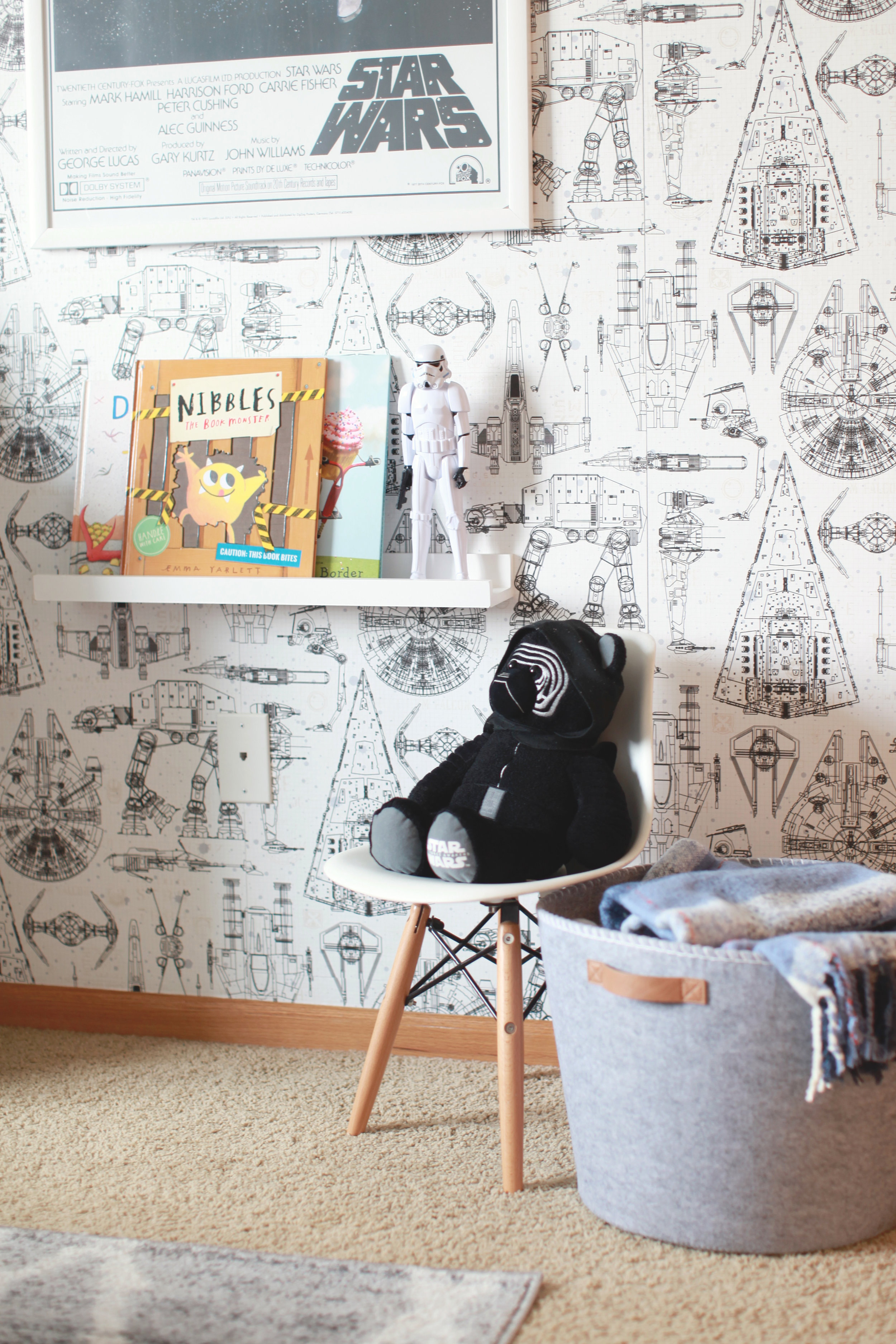 """Miles loves to read and has always wanted to have """"his books"""" in his room so making this shelf for him was fun - I knew he would love it."""