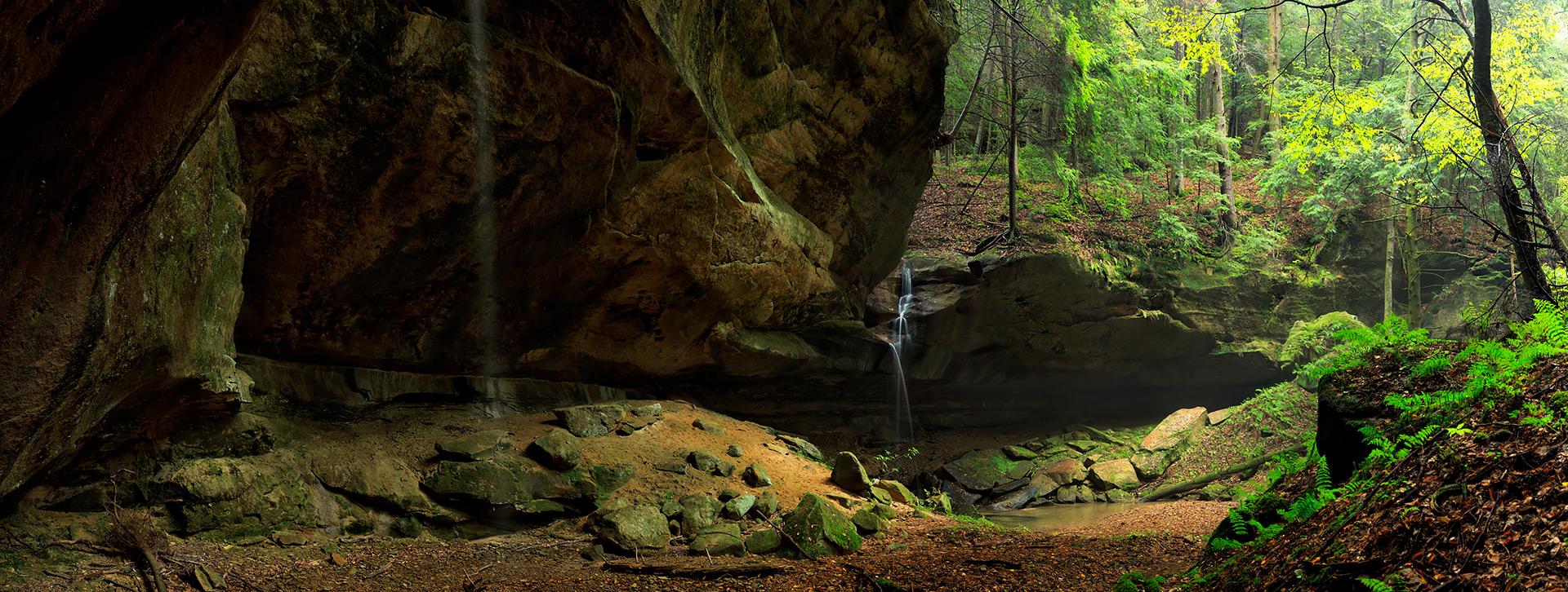 Double Waterfall Panorama