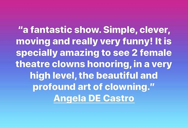 #humbled #proud #bonami #vaultfestival2019 #clowntheatre #clown