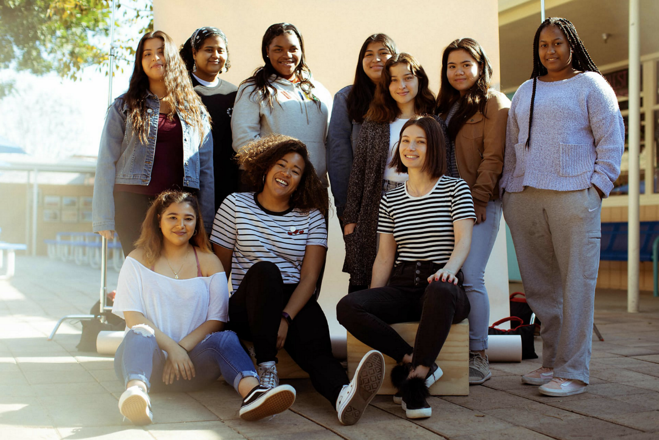 Our Mentors from Oui Productions, who work with the girls to teach Photo Production and on set guidelines.
