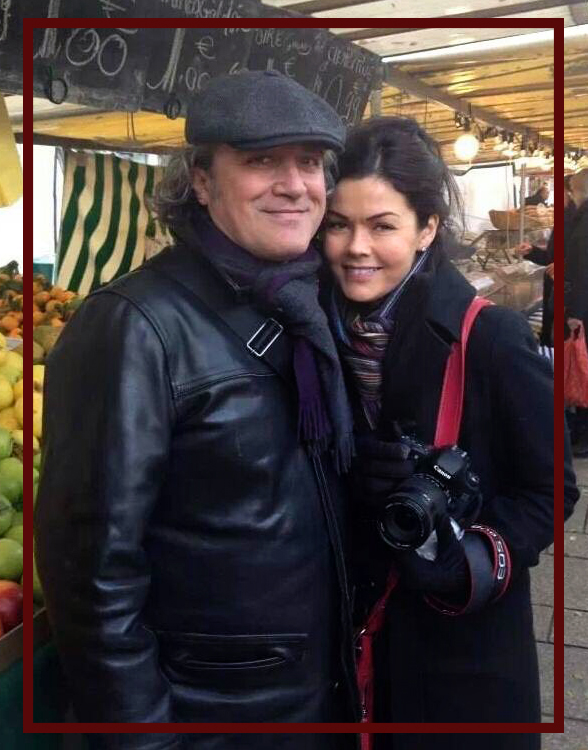 Benoit and Christi at the Farmer's Market in Paris