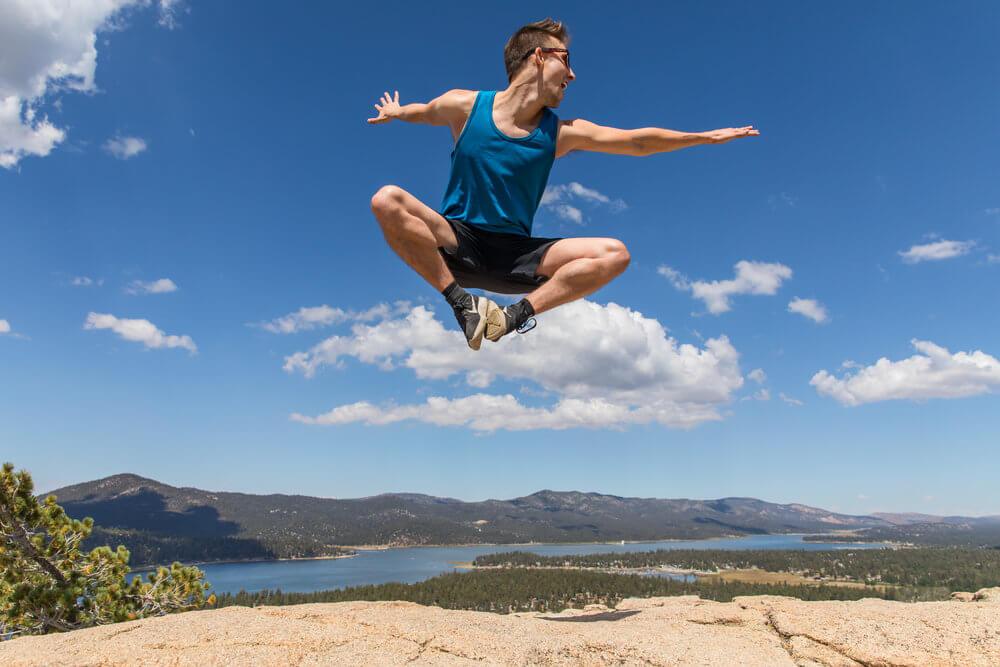 vigorous, fun, healthy jump