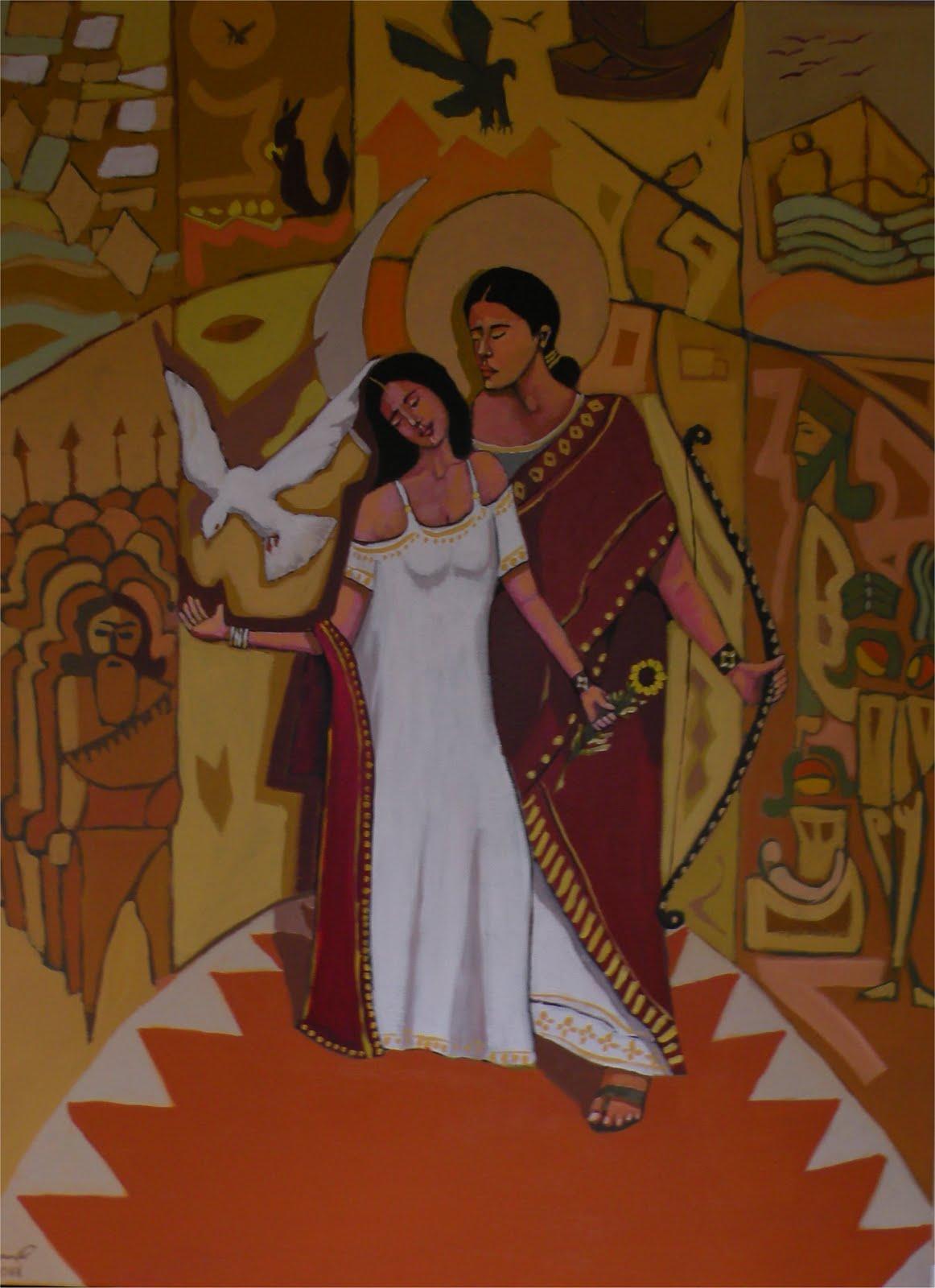 A painting of Malek Rama Lakhouma by Assyrian Artist,    Paul Batou