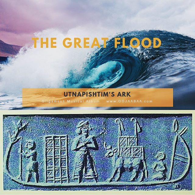 #sumerian clay tablet shows #utnapishtim and his Ark during #thegreatflood in #ancienttimes. Act II of #gilgameshmusical includes a complete section from #thefloodstory  #oojaabaa #gilgamesh #musicaltheatre #ancientworld #mesopotamia #assyrian #musicals
