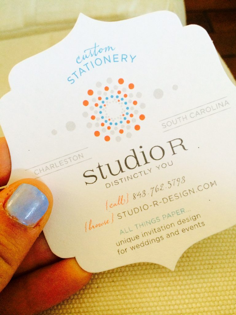 Studio R'™s invitations are sold at stationers across the country, from Kansas to New York. However, their home base here in Charleston is where they thrive. The studio has been featured multiple times in Charleston Weddings magazine and Modern Bride.