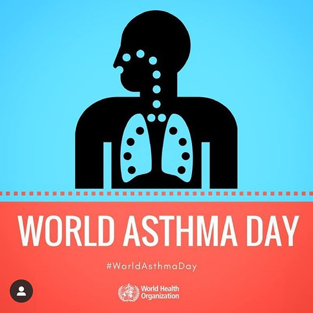 Did you know that today is World Asthma Day? According to the CDC, 25 million Americans have asthma, which is Asthma is a lifelong disease that causes wheezing, breathlessness, chest tightness, and coughing. . . . . . . . . . . . . #who #asthma#worldasthmaday #lungs#breathing#cdc