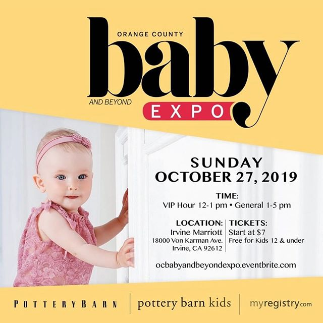 The Orange County Baby and Beyond Expo is coming to Irvine ‪on Sunday, October 27, 2019‬ at the Irvine Marriott! Tickets on sale now!  Visit @ocbabybeyond for more info!