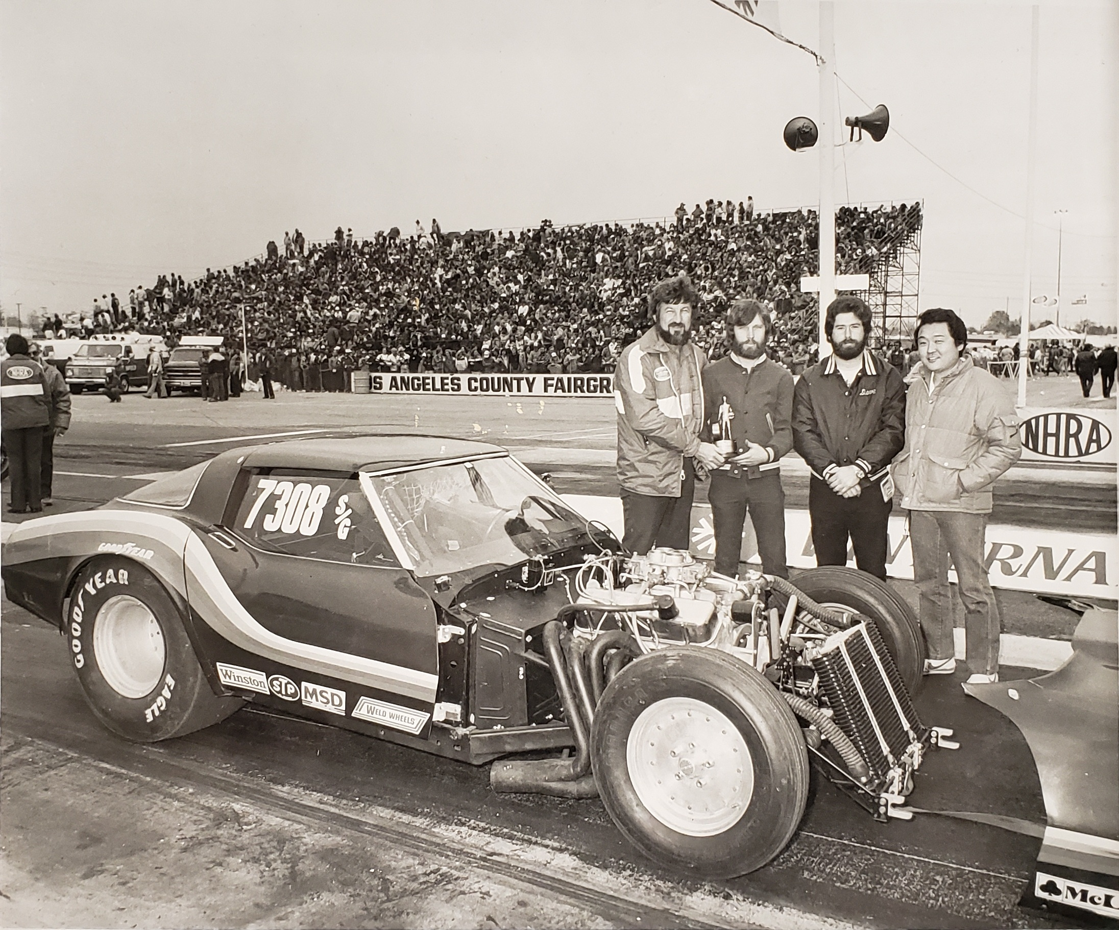 - James won a Duffy for National Hot Rod Association's (NHRA) Best Engineered Car at the Pomona Winter Nationals in 1982