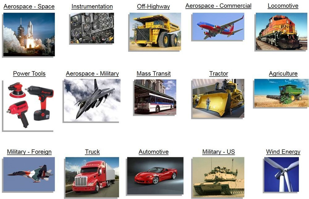 Serving many industries for machine deburring including aerospace, automotive, military, mass transit, locomotive, agriculture, plus much more