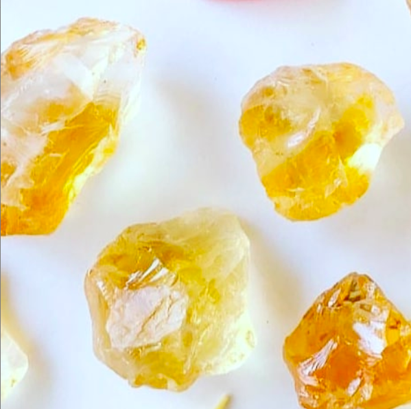 Citrine - Rather than absorbing negativity, citrine clears it. It also facilitates wealth and prosperity and is known to spark creativity.