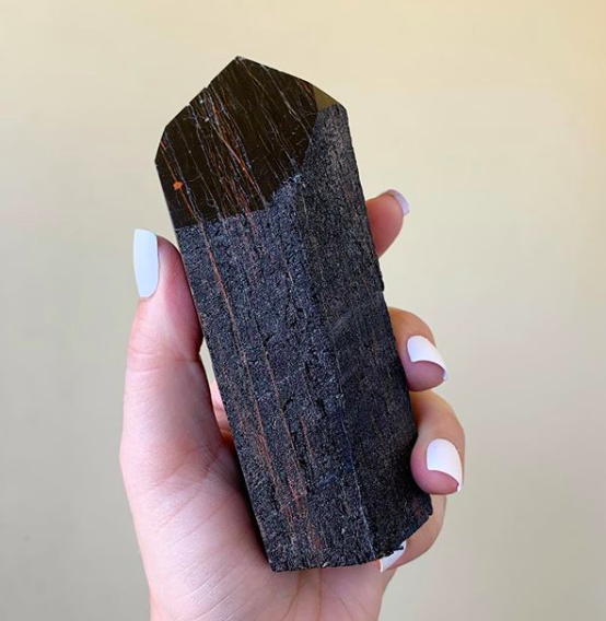 Black Tourmaline - Black tourmaline is known as a protection stone. It puts a boundary between you and others so you are protected from negative energy you don't want to attract.