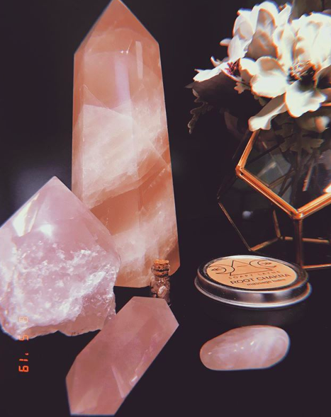 Rose Quartz - A very popular stone for healing emotional traumas as well as relationship trouble, rose quartz helps to release negative emotions and bring forth peace and tranquility in all things love.