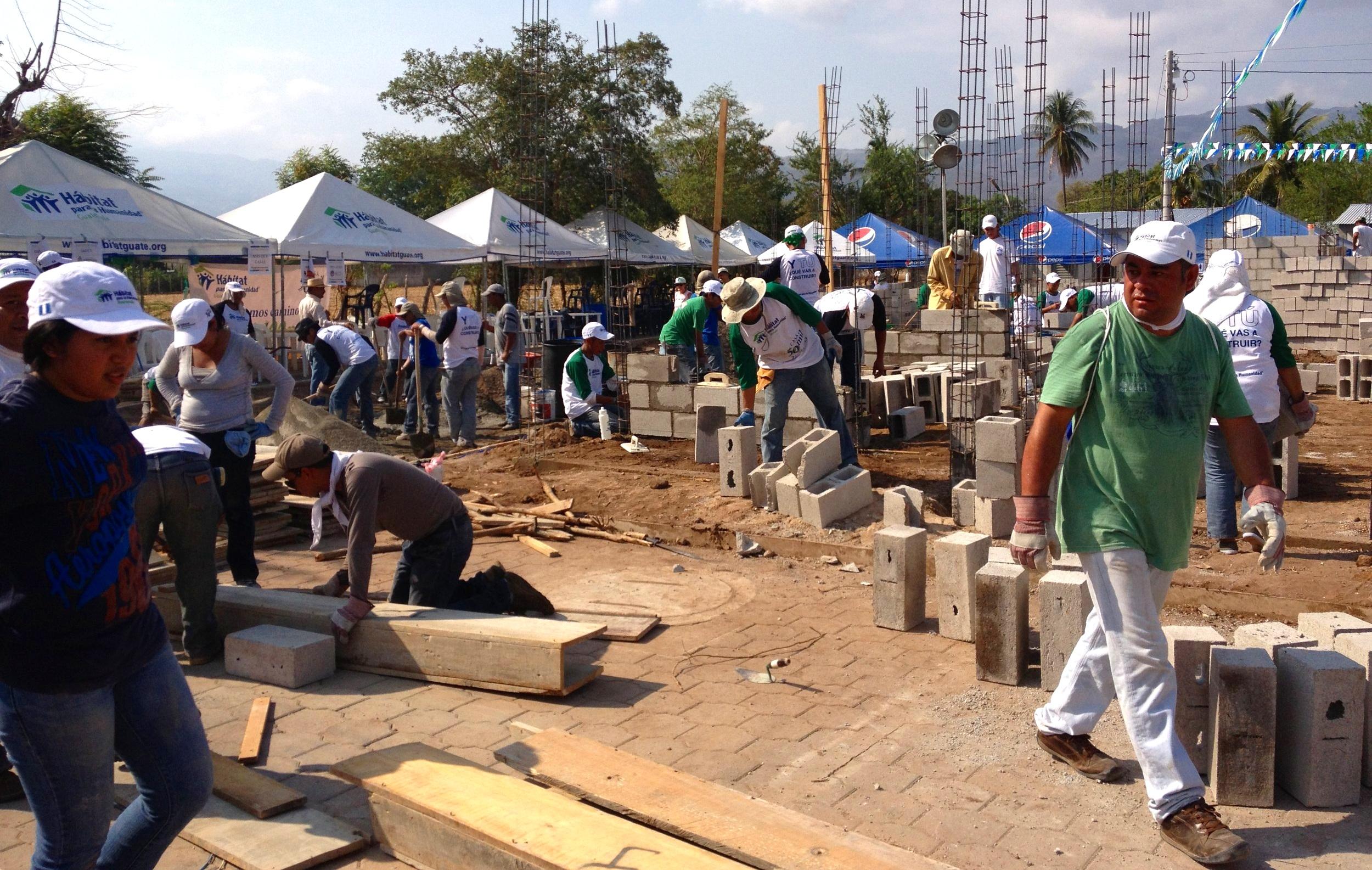 Proyecto de Habitat para la Humanidad Guatemala en Zacapa.
