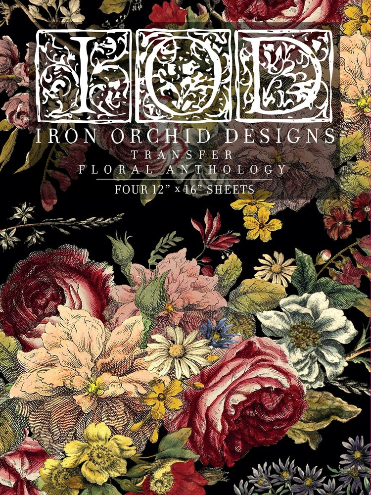 Astoria Foliage IOD Paintable Transfer Iron Orchid Designs