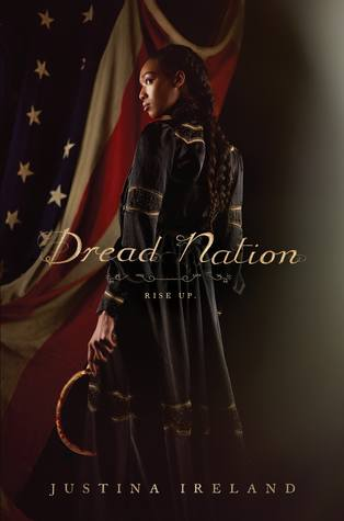 Dread Nation - Author: Justina IrelandDescription: Dread Nation is an alternative history of the United States set during the Civil War, in which the corpses of the dead begin to walk the battlefields of Gettysburg and Chancellorsville. In this world, African American and Native American people are required to attend combat school to learn how to kill the undead. This story follows a female protagonist as she attends one such school and eventually finds herself in a fight for her life against not only zombies, but other powerful enemies as well.Includes: #ownvoices #africanamerican #black #femaleprotagonist #alternativehistory #zombies #civilwar #biracial #nativeamericansCitation: Ireland, J. (2018). Dread nation. Blazer + Bray.Image retrieved from: Goodreads.