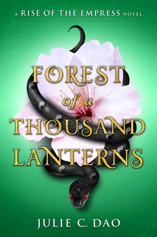 Forest Of A Thousand Lanterns - Author: Julie C. DaoDescription: Forest Of A Thousand Lanterns is a retelling of the evil queen story from Snow White. It is a dark read set in a fictional country and is based on Asian folklore.Includes: #ownvoices #asianamerican #fantasy #magic #femaleprotagonistCitation: Dao, J.C. (2017). Forest Of A Thousand Lanterns. Philomel Books.Image retrieved from: Goodreads.