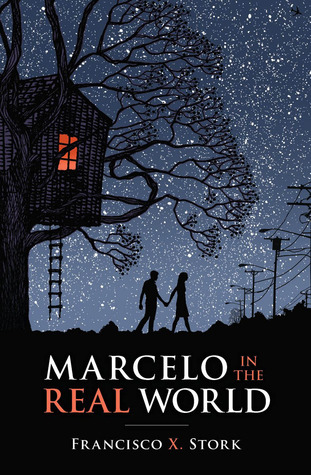 Marcelo and the Real World - Author: Francisco X. StorkDescription: Marcelo in The Real World is a contemporary novel about a boy with Autism. It follows his experience working at his dad's legal firm during the summer between his junior and senior year of high school.Includes: #maleprotagonist #disability #autism #contemporaryCitation: Stork, M. X. (2009). Marcelo In The Real World. Arthur A. Levine Books.Image retrieved from: Goodreads.