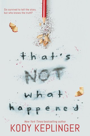 That's Not What happened - Author: Kody KeplingerDescription: That's Not What Happened is a contemporary novel about the six surviving witnesses of a school shooting. The story picks up three years after the shooting and tracks the ways in which memory and perspective have clouded the story of what actually happened. Through a series of letters from each witness, the protagonist's understanding of the shooting becomes more complex. This is a book about trauma, the influence of the media, and about the ways in which memory is not always accurate. This book includes a blind character and was written by a blind author.Includes: #ownvoices #disability #blind #LGBTQIA #asexual #femaleprotagonist #contemporary #trauma #schoolshootingsCitation: Keplinger, K. (2018). That's Not What Happened. Scholastic Press.Image retrieved from: Goodreads.