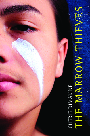 The Marrow Thieves - Author: Cherie DimalineDescription: The Marrow Thieves is a dystopian novel set in a future where the protagonist has to escape and find a way to survive hunters who are trying to steal Indigenous people's bone marrow because it gives them the ability to dream.Includes: #ownvoices #nativeamerican #indigenous #dystopian #maleprotagonist #traumaCitation: Dimaline, C. (2017). The Marrow Thieves. Dancing Cat Books.Image retrieved from: Goodreads.