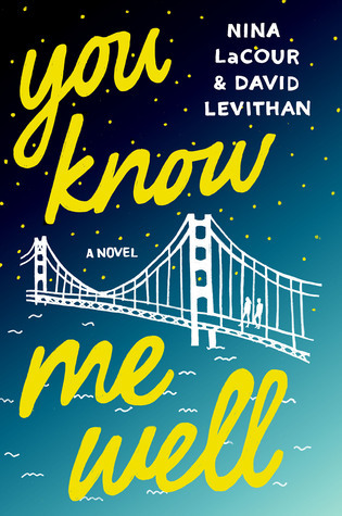 You Know Me Well - Author: David Levithan and Nina LaCourDescription: You Know Me Well is a contemporary novel told through the alternating perspectives of a gay male teen and a lesbian female teen throughout the course of Pride week in the Bay Area.Includes: #ownvoices #gay #lesbian #LGBTQIA #maleprotagonist #femaleprotagonist #contemporaryCitation: Levithan, D. & LaCour, N. (2016). You Know Me Well. St. Martin's Griffin.Image retrieved from: Goodreads.