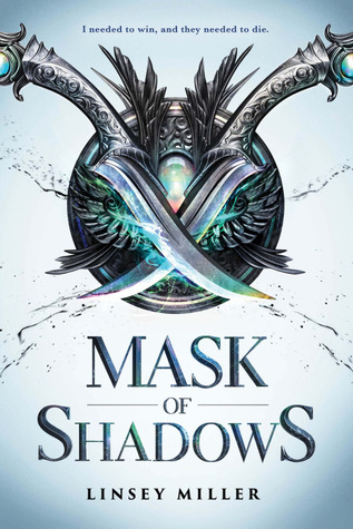 Mask Of Shadows - Author: Linsey MillerDescription: Mask Of Shadows is a fantasy novel about a genderfluid non-binary protagonist who is a thief and dreams of a new life.Includes: #nonbinary #transgender #LGBTQIA #nonbinaryprotagonist #fantasy #magicCitation: Miller, L. (2017). Mask Of Shadows. Sourcebook Fire.Image retrieved from: Goodreads.