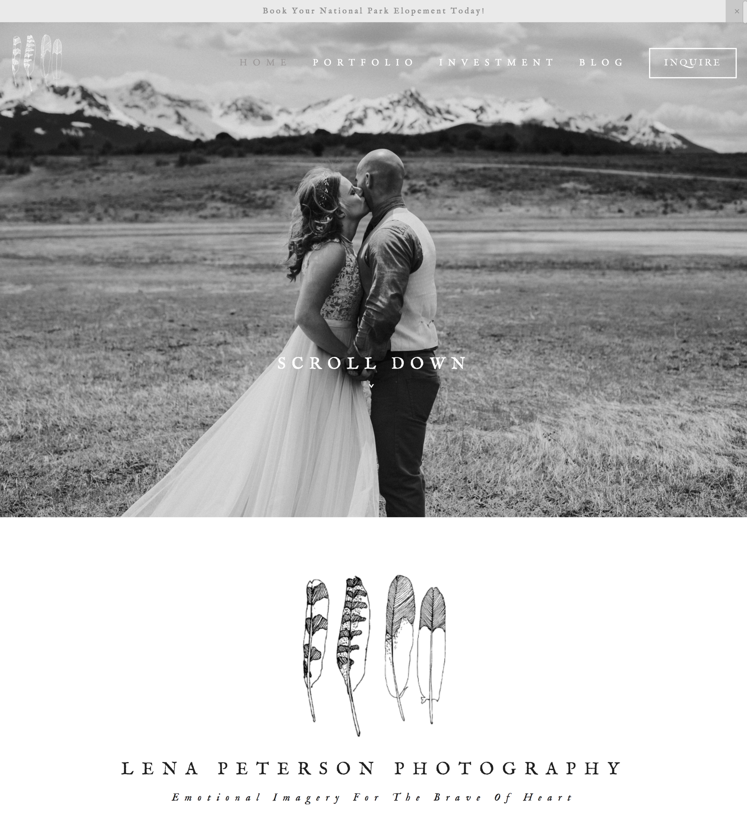 Lena Peterson Photography Website