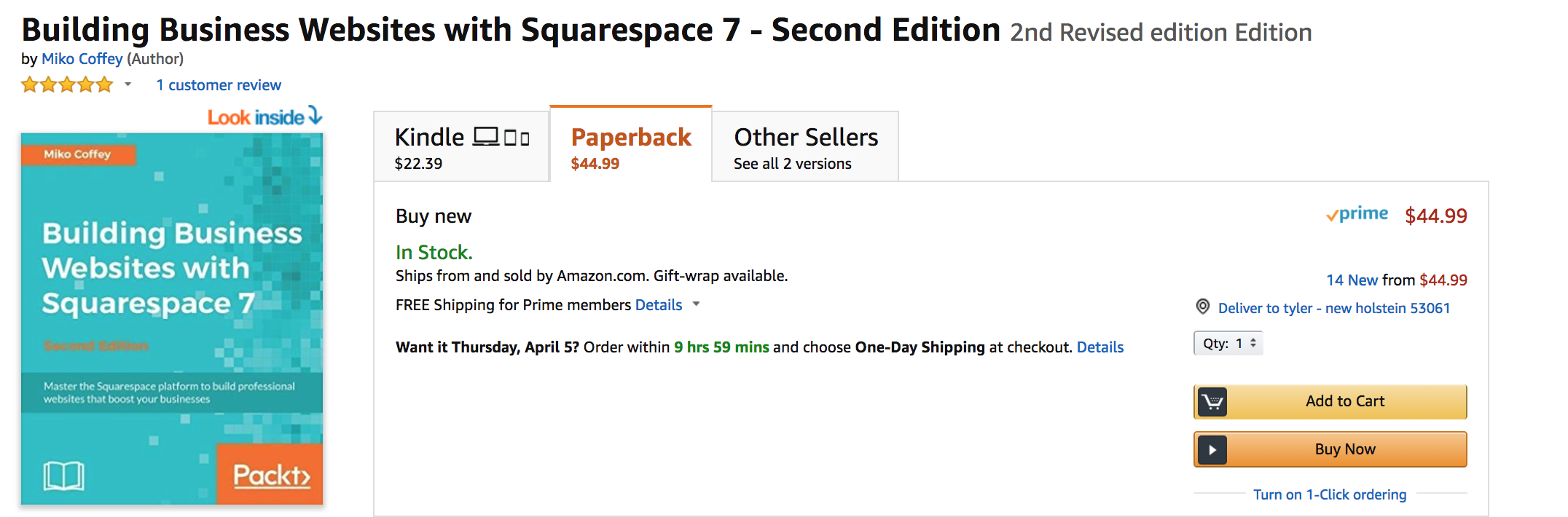 Building Business Websites with Squarespace 7 Book